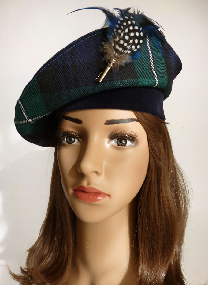 House of tartan beret tartan macdonald of the isles vs tartan