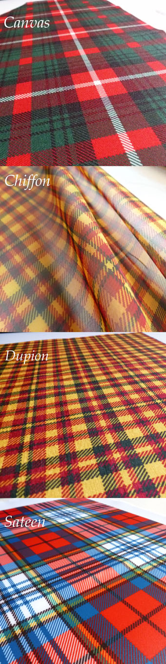 Fabric Panel, Material in Any Tartan
