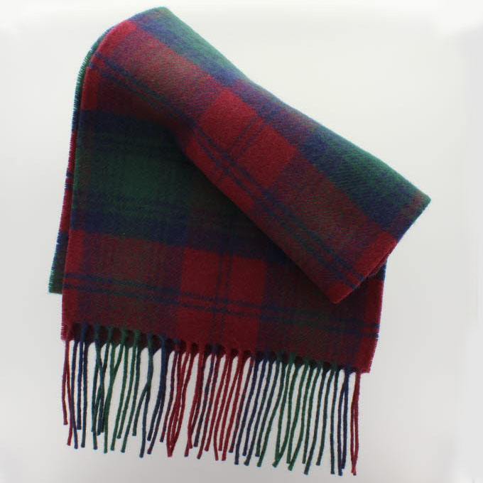 Lambswool Scottish Clergy Ancient Tartan Clan Scarf Gift