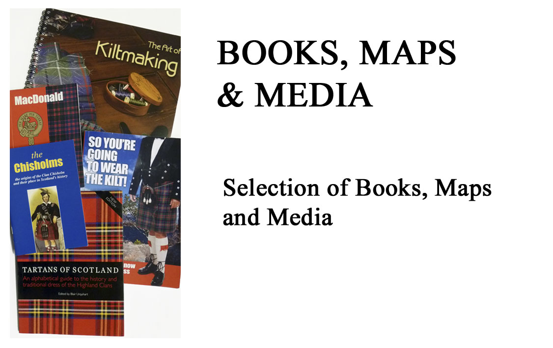 Books, Maps, DVDs, & Music Clan and Tartan Maps, Celtic Music